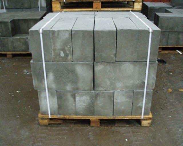 Стандартная упаковка пеноблоков - по 30 или 40 штук на поддоне