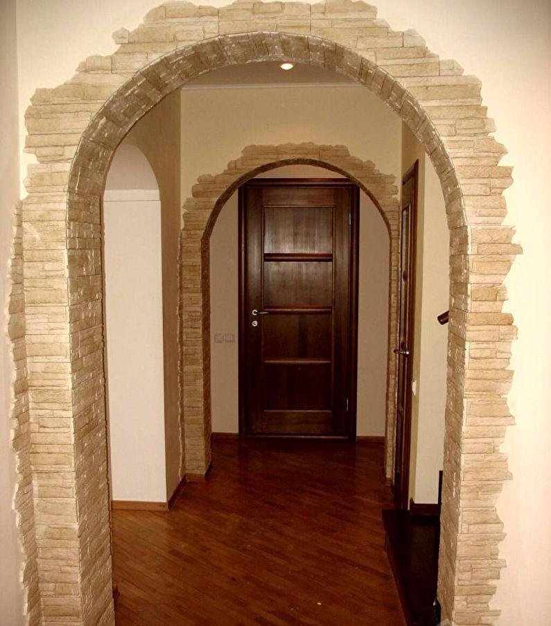 как красиво отделать арку в квартире фото поставляем