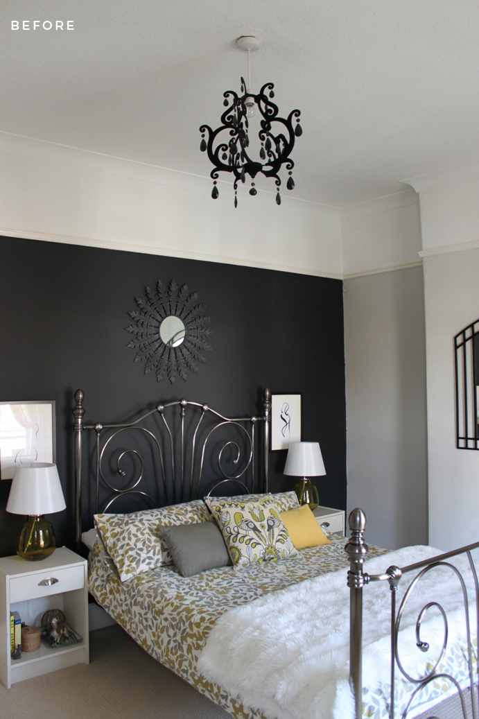 Should You Paint Above The Picture Rail? Bedroom Before 2010