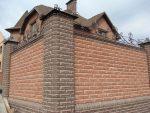 Забор с колоннами из кирпича – какой вариант выбрать, красивые ворота на ленточном фундаменте из кирпича со столбиками