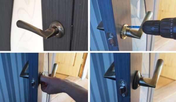 как сделать ручку в двери